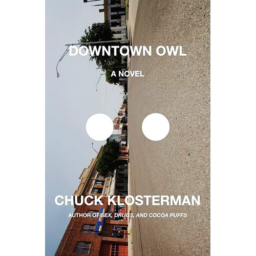 """""""Downtown Owl"""" has two holes in the cover … for some (probably meaningful) reason.   Image Courtesy of Scribner Publishing"""