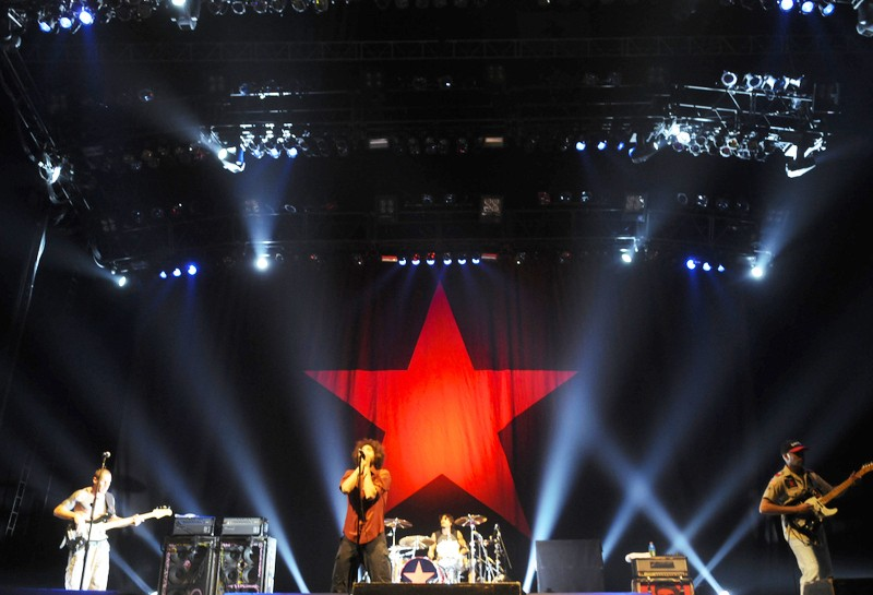 Rage Against The Machine rocks everyone's socks off Wednesday at The Target Center