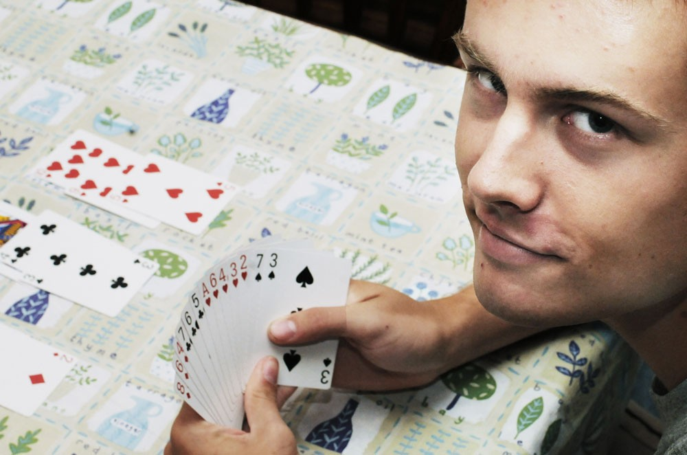 University pre-pharmacy sophomore Jake Olson won the first annual Youth North American Bridge Championships in July. He has only been playing bridge for two years.