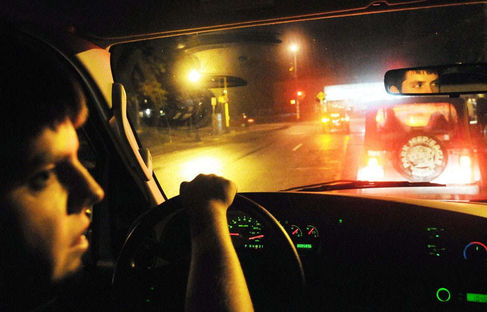 University corporate environmental management sophomore T.J. Dubbs drives the MSA Express taxi Saturday night. The service runs from 10 p.m. to 2 a.m. and is free to students.