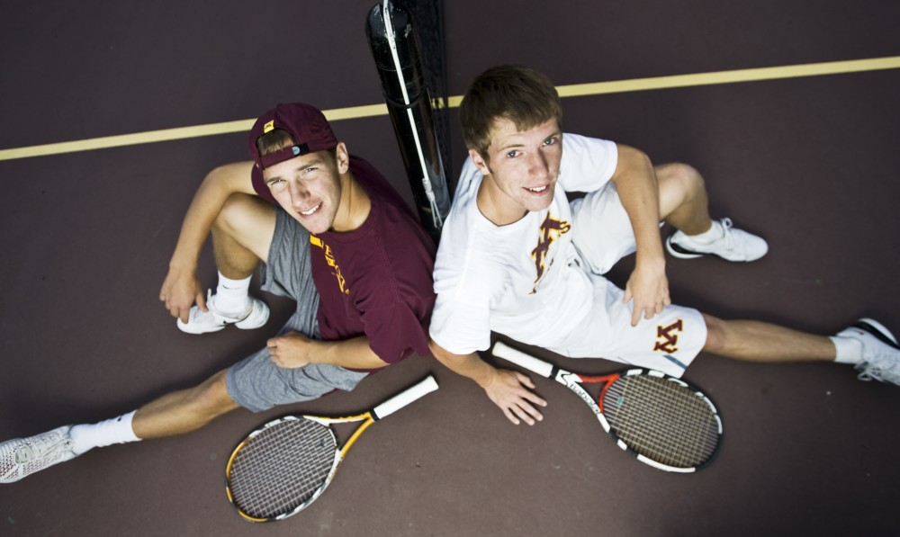 Freshman Phil Arndt and Michael Sicora are two of the newest additions to the Minnesota men's tennis team who are making an impact already.
