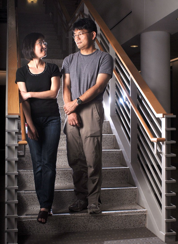 Assistant neuroscience professors Naoko Koyano, left, and Yasushi Nakagawa are among the growing trend of hiring spouses to the nation's top universities. Thirty-six percent of professors at the nation's leading universities have partners who are also professors, according to a new report released by Stanford University.