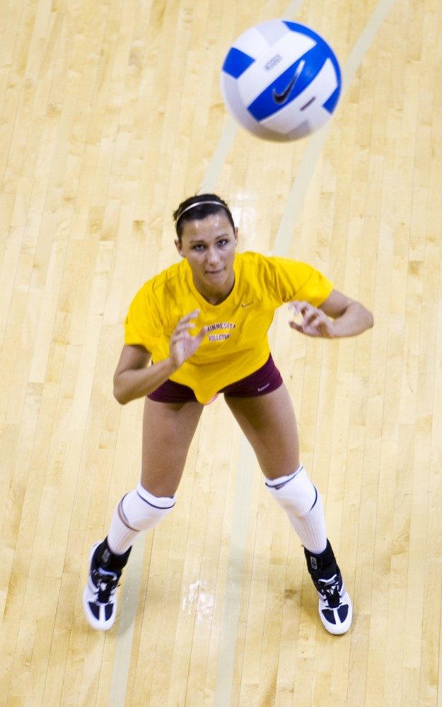 Freshman Alex Blatt is in line to take over what head coach Mike Hebert said is the most difficult position on the team, as senior setter Rachel Hartmann is in her last season.