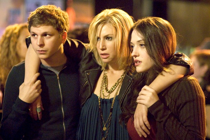 Nick (Michael Cera), Caroline (Ari Graynor) and Norah (Kat Dennings) star in Columbia Pictures and Mandate Pictures' comedy Nick & Norah's Infinite Playlist.