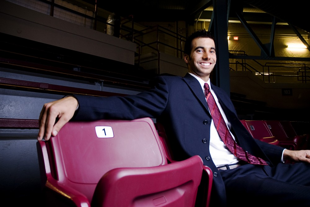 "Steve Goodson, asst. men's basketball coach, was named Cosmo magazine's most eligible bachelor for Minnesota.  ""I was a little a little over whelmed at first and I didn't know what to think,"" comments Goodson."