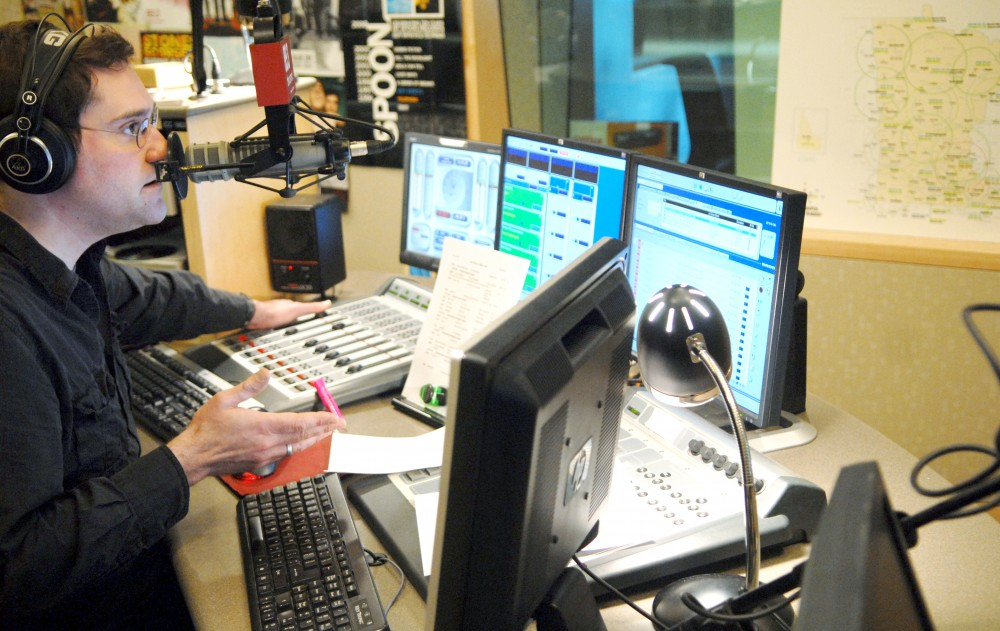 steve seel during his radio show at MPR