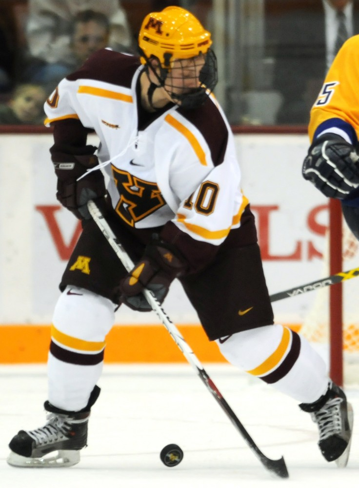 Freshman defensemen Aaron Ness will have a tough task on his hands as he and his fellow freshman take on a powerful and dangerous St. Cloud State offense this weekend.