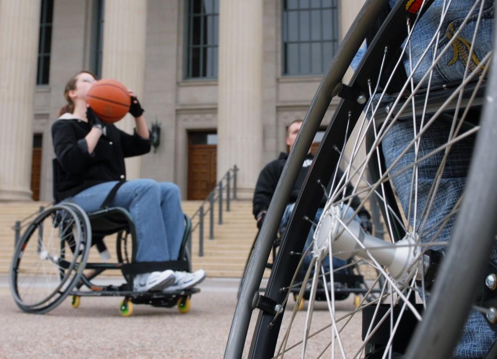 Wheelchair Basketball - Northrop Plaza
