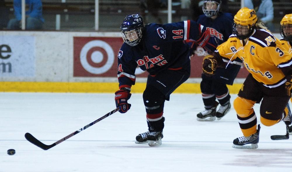 womens hockey vs. robert morris. Gophers 7-1
