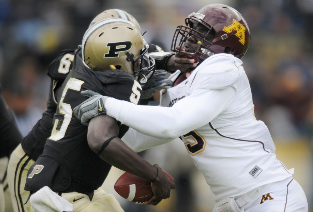 The Minnesota defense was without a doubt a bright spot of the Gophers 17-6 win over Purdue, helping out an uncharacteristically average showing from sophomore quarterback Adam Weber.