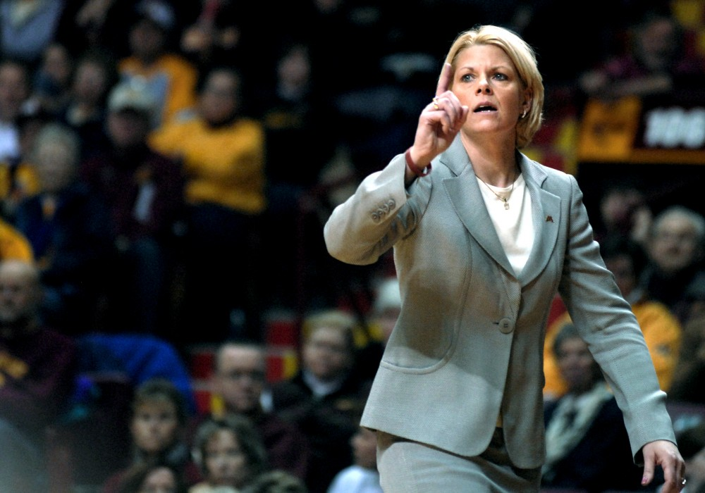 Minnesota head coach Pam Borton said she is excited to open up play tonight in front of a home crowd. She'll also have a chance to coach against former Minnesota star guard Kelly Roysland who is on the North Dakota State coaching staff.