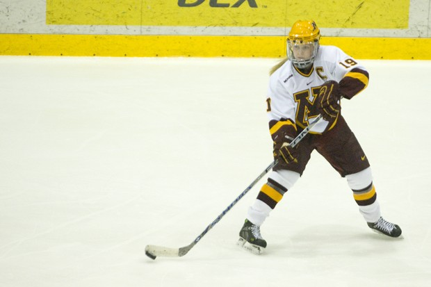 Senior captain Gigi Marvin is the a member of the only senior class not to have the opportunity to hang a banner at Ridder Arena. She hopes to change that with a pair of wins this weekend which would give Minnesota a regular season WCHA championship.