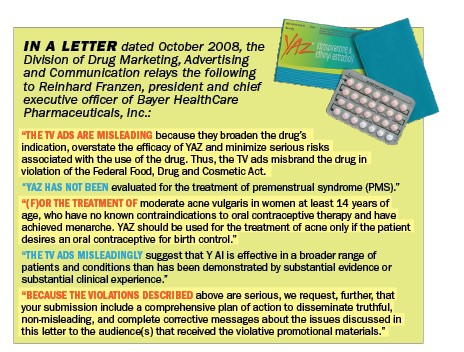 Birth control maker disciplined over untruthful advertising