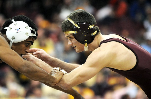 Minnesota wrestler Jayson Ness has had to worry about his weight a little less this season after bumping up to 133-pounds, but that isn't the case for the rest of his team.