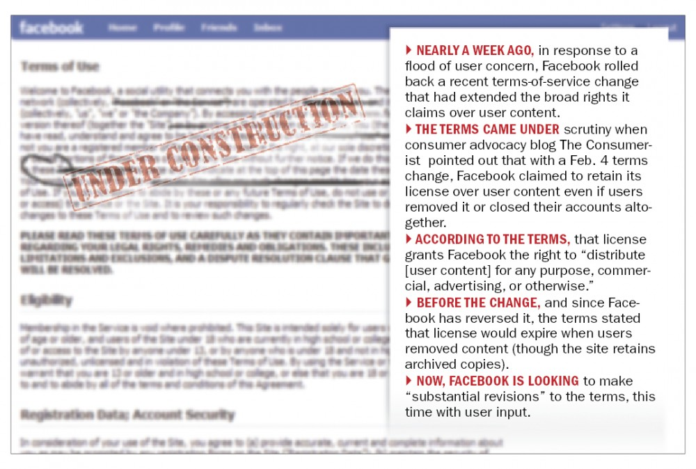 Facebook to revise service terms