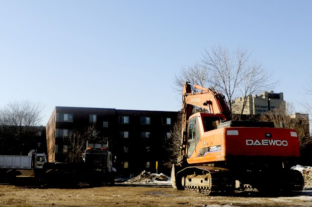 Though demolition has begun on block 11, several properties have refused to sell to the University, delaying construction plans.