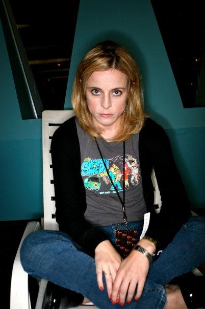 Source Comedian Maria Bamford is only glaring because there's cat hair on you. Get it off! Sorry, shameless