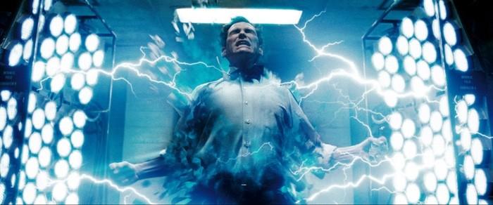 Unassuming nerdlinger Jon Osterman becoming the superhuman Dr. Manhattan. PHOTO COURTESY WARNER BROS.