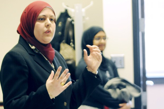 Attorney Imani Jaafar-Muhammed spoke Thursday about the roles of women in Islam and their misconceptions.