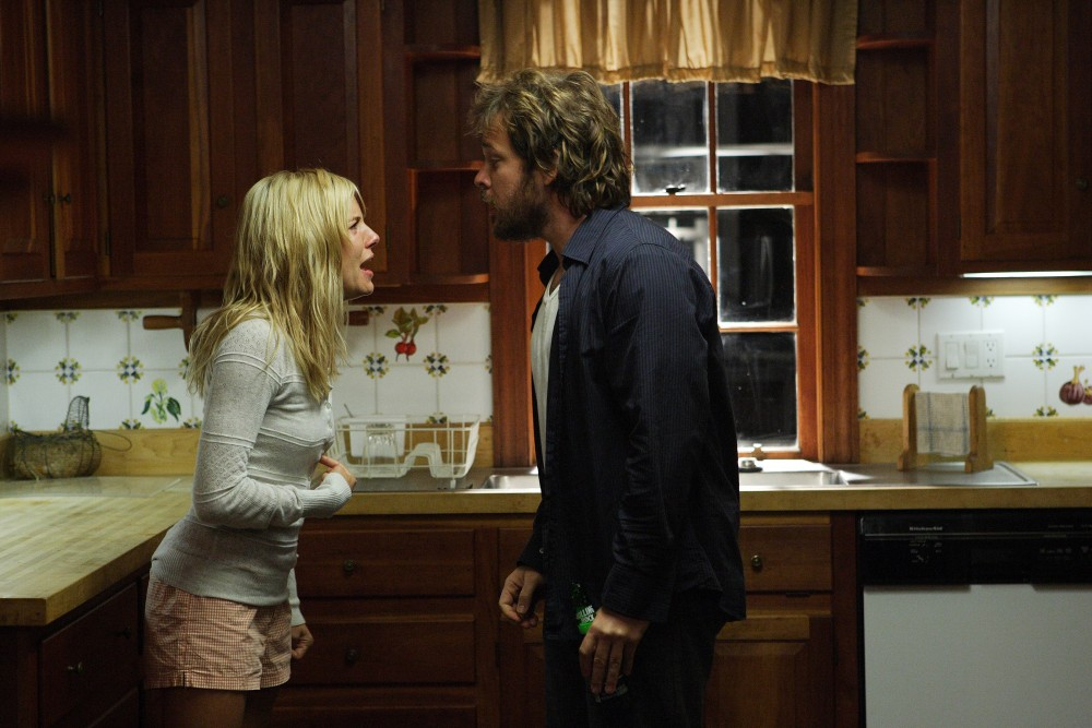 We're not sure why anyone would cheat on Sienna Miller, but Peter Sarsgaard's Cleveland does, and clearly it gets ugly. PHOTO COURTESY ARCHLIGHT FILMS