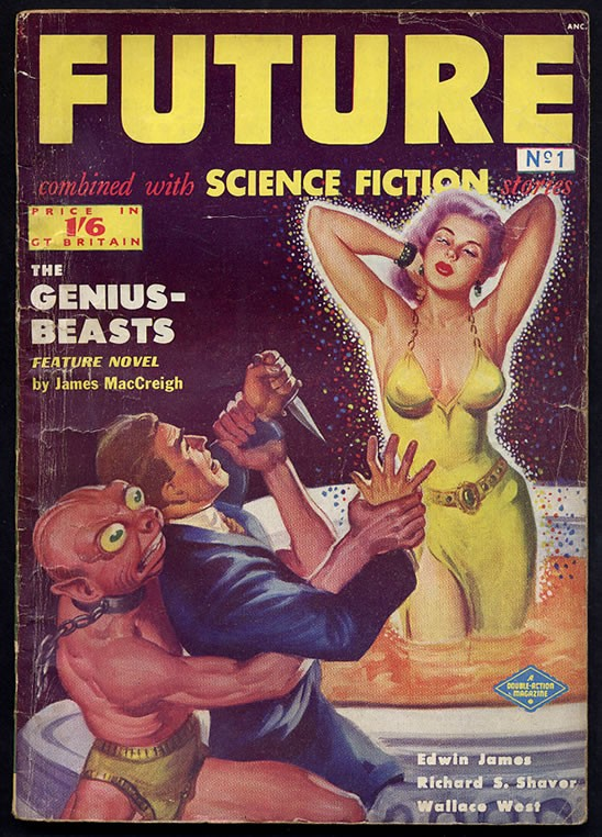 Does she look like Mila Jovovich? No! Sci-fi lit has come a long way. PHOTO COURTESY DOUBLE ACTION