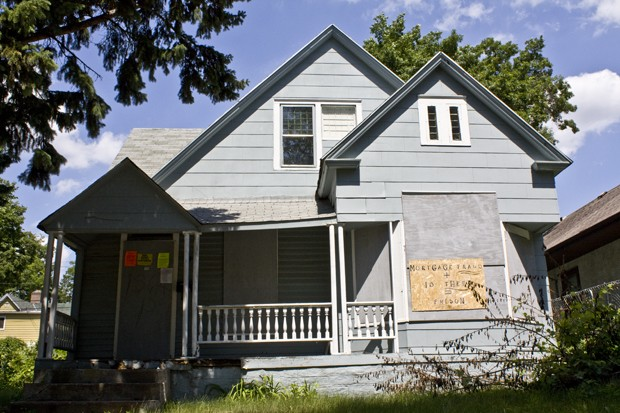 Jerry Moore was contracted to replace the windows in this north Minneapolis house. The fraudulent deal was used in a lawsuit against a man named Larry Maxwell.