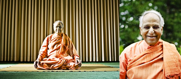 Swami Veda Bharati travels the world speaking on meditation and spends every July in Minnesota. Originally from India, Bharati now speaks 17 languages.