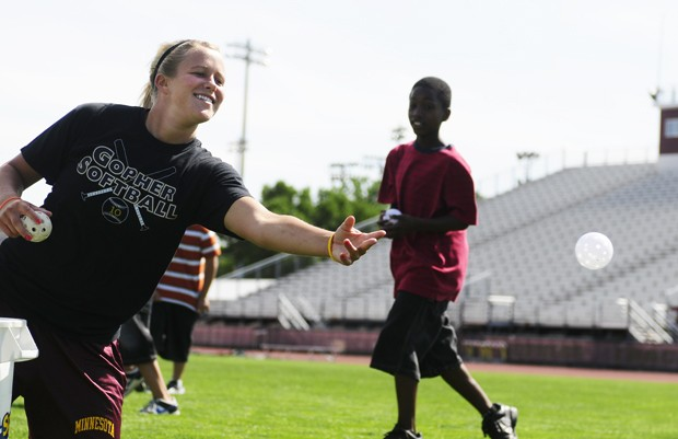 Gophers hold mini sports clinic for YMCA