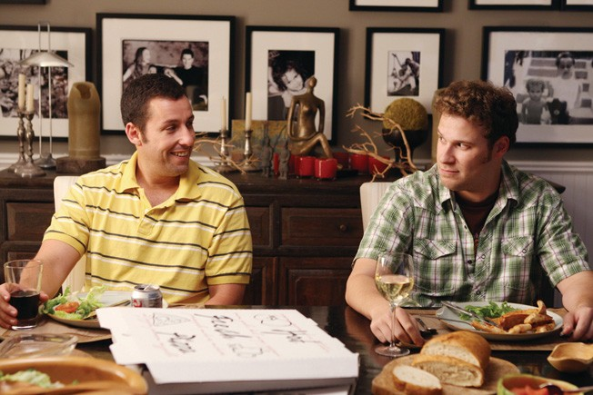 "Sandler: ""I'm dying and don't know what happiness means."" Rogen: ""I'm awkward."""