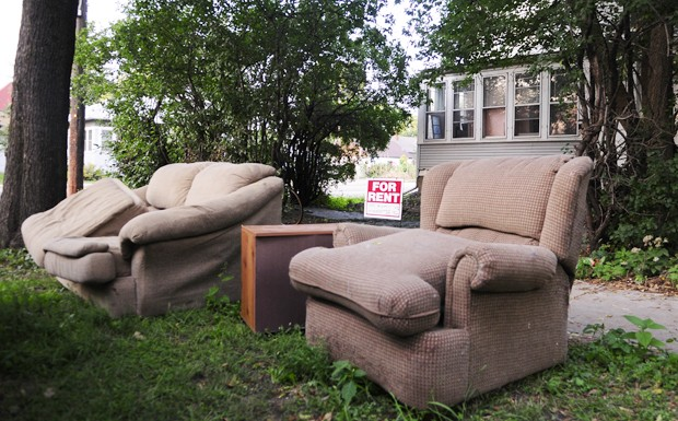 SECIA recently received a grant from the MN Polution Control Agency to do research on illegal garbage dumping in the Como neighborhood.  The garbage includes unwanted furniture and electronics as mass move-outs take place at the end of the summer.