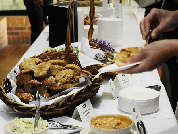 Breakfast is served at the Healthy Food, Healthy Lives Symposium on Monday at the Hubert H. Humphrey Center.