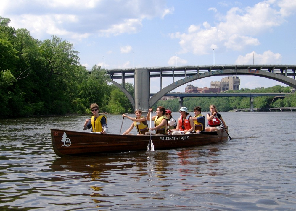 Modern canoeists paddle down the Mississippi, just like the voyagers of yore.  PHOTO COURTESY 2008 NATIONAL PARK SERVICE.