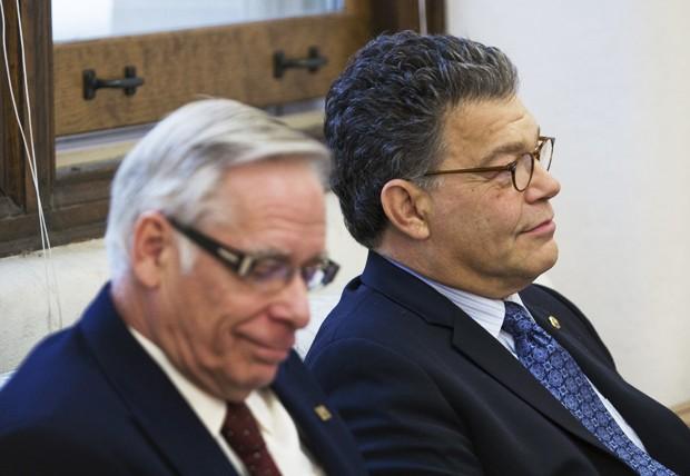 University President Robert Bruininks and Sen. Al Franken, D-Minn., spoke about student loan reform at a press conference in Morrill Hall on Monday.
