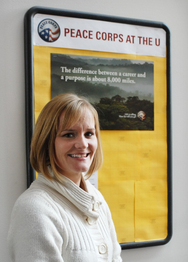 Erin McGillivray was recently hired as the Peace Corps representative for the University of Minnesota.