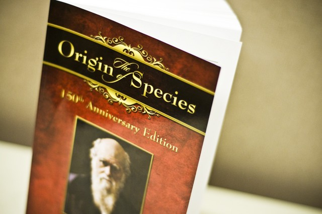 Creationists hand out Darwin's book with a twist