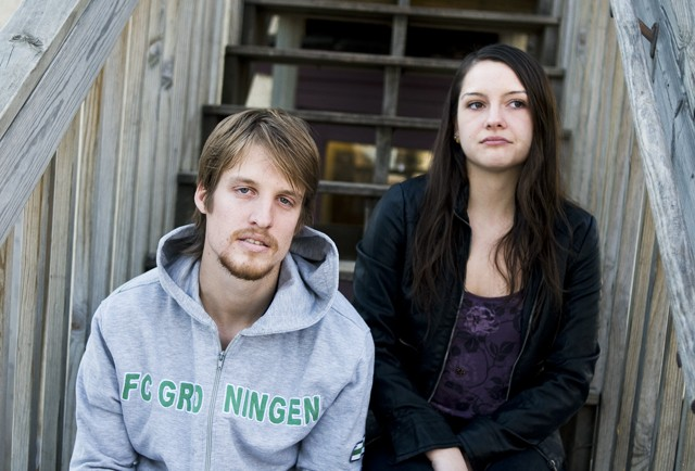 Thomas Hoffman, left, and Sofia Aedo both have relatives and friends living in Chile.