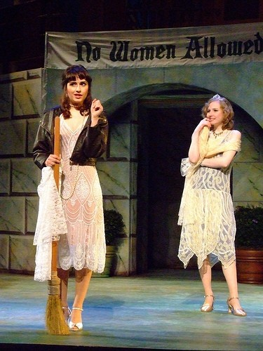 The Princess of France and her lady-in-waiting devise a plot to fool the horny menfolk in the U's production of