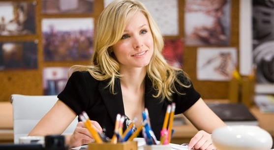 Kristen Bell acting helpless. PHOTO COURTESY TOUCHSTONE PICTURES