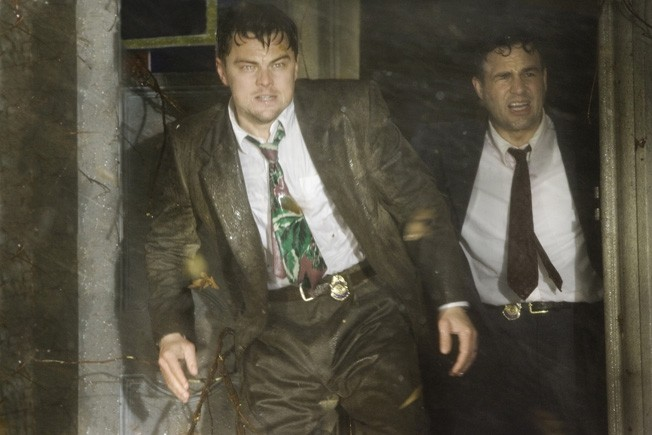 Teddy (DiCaprio) and Chuck (Ruffalo) prepare for the storm.
