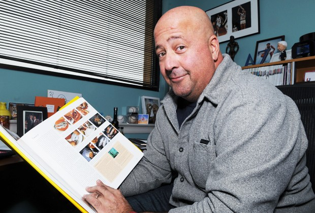 Travel Channel's host of Bizarre Foods Andrew Zimmern talks about a culinary book in his office Tuesday.  Zimmern will be speaking in Cowles Auditorium at the Humphrey Center with award winning travel writer Rudy Maxa at 7 p.m. tonight.