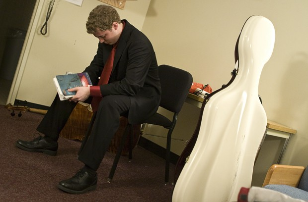 Joshua Rohde prepares for his Senior Recital