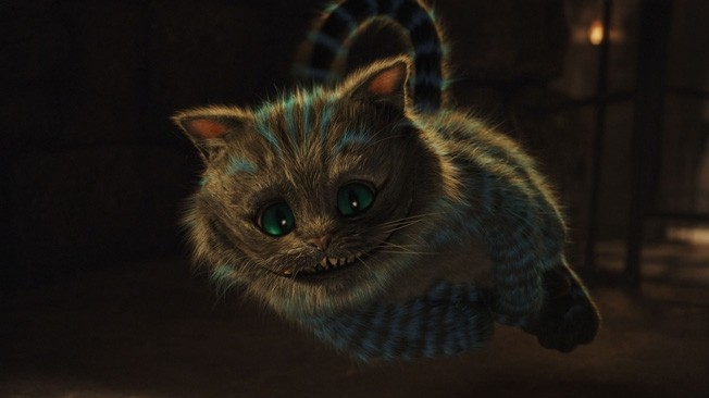 The charismatic Cheshire Cat (Stephen Fry) can't save this production. PHOTO COURTESY WALT DISNEY PICTURES