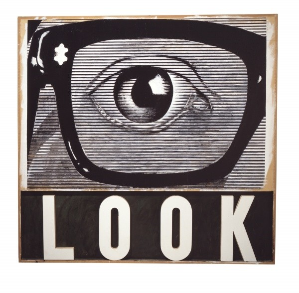 """LOOK!"" by Joe Tilson is part of the Walker's collection of art from 1964. PHOTO COURTESY WALKER ART CENTER/JOE TILSON"