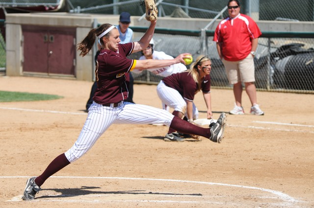 Sophomore pitcher Alissa Koch pitched all 14 innings of the Gophers' losses to Indiana at Jane Sage Cowles Stadium this weekend. Koch now has a 0-15 record this season.