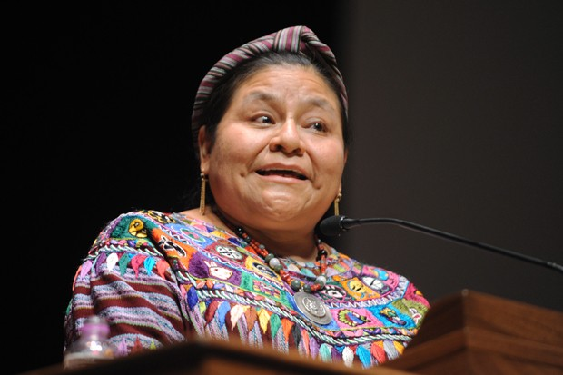 Nobel Peace Prize laureate Rigoberta Menchú Tum speaks Friday at Northrop Auditorium as part of PeaceJam.