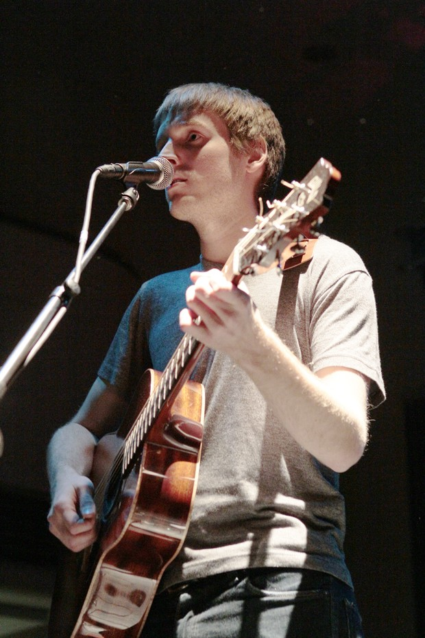 Will Hutchinson plays the opening act of MSA's Lens-a-hand, Hear-the-band concert Monday evening at Coffman Union.