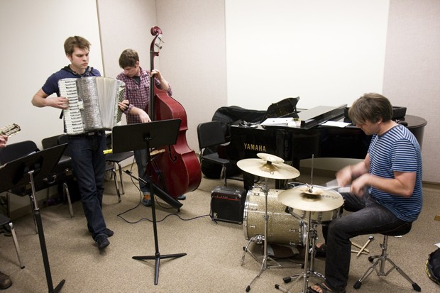 Mahadrin Klezmer Ensemble practices for an upcoming show at the Bedlam Theatre.
