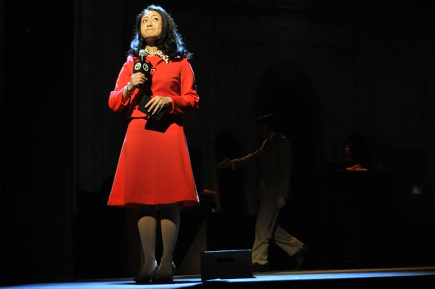 Sophomore Stephanie Bertumen acts in the U of M production of Executioin of Justice at the Rarig Center.