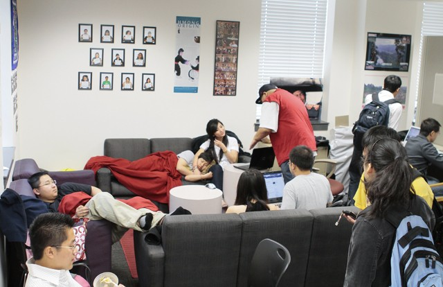 Students fill the Hmong Minnesota Student Association office Tuesday in Coffman Union.