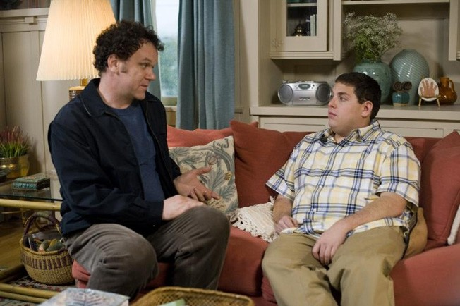 John C. Reilly (left) with Jonah Hill in